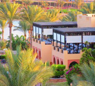 Die Terrasse des Restaurants Hotel Steigenberger Coraya Beach