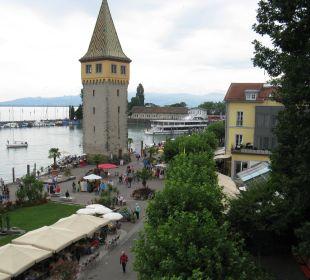 Direkter Blick auf den Lindauer Hafen Hotel Lindauer Hof