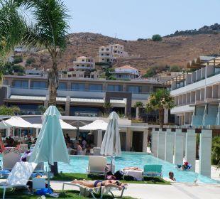 Ausblick der Terrasse des ital. Restaurants Hotel Resort & Spa Avra Imperial Beach