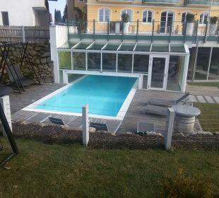 Außenansicht vom Pool Landhotel Stemp