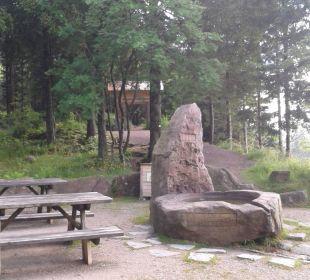 Rastplatz am Berghotel mit Brunnen Berghotel Mummelsee