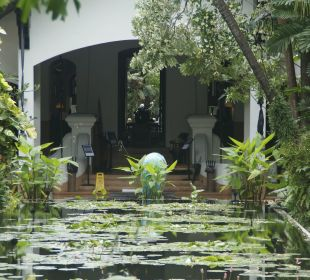 Blick zurück zum Eingang Anantara Bophut Koh Samui Resort