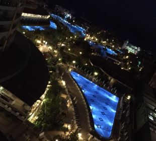 Nachts vom Balkon Hotel Delphin Imperial