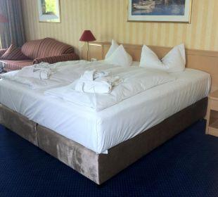 Neue Luxus Betten in allen Zimmern vom Haupthaus Europa Hotel Kühlungsborn