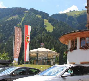 Blick in Richtung Schmittenhöhe  AlpineResort Zell am See