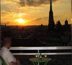 Sunset from Suite St. Stephan's Cathedral #140 Hotel Am Parkring