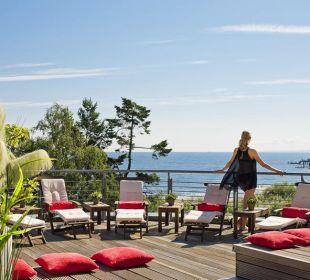 Ausblick von der Wellnessterrasse Strandhotel Ostseeblick