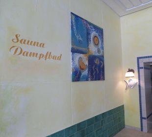 Eingang zur Sauna und Dampfbad Hotel Katschberghof