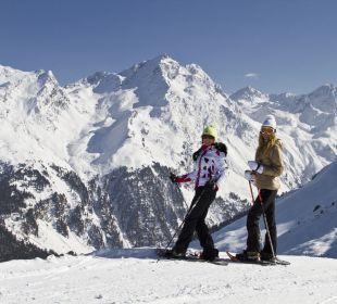 Schneeschuhwandern in Praxmar Alpengasthof Pension Praxmar
