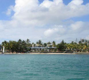Die komplette Anlage vom Meer her gesehen Coral Azur Beach Resort