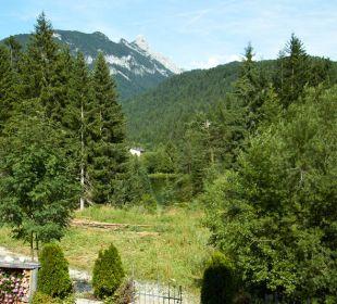 Panorama vom Balkon der Ferienwohnung im Landhaus  Landhaus Karoline Wohlfühl-Ferienwohnungen