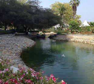 Gartenanlage Hotel Le Meridien Al Aqah Beach Resort