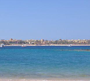 Ausblick vom Strand Hotel Iberotel Makadi Beach