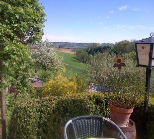 Blick von der Terrasse Landhaus FühlDichWohl