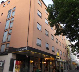Außenansicht City Hotel Ost am Kö Augsburg