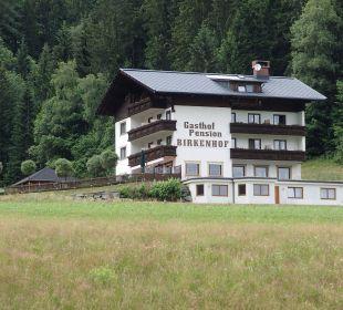 Blick von der Straße Gasthof Pension Birkenhof