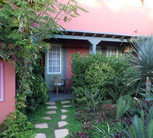 Terrasse des Zimmers Hotel Hacienda de Abajo