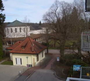 Blick vom Balkon Hotel Jodquellenhof Alpamare (Hotelbetrieb eingestellt)