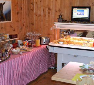Frühstücksbuffet Gasthaus Alpina