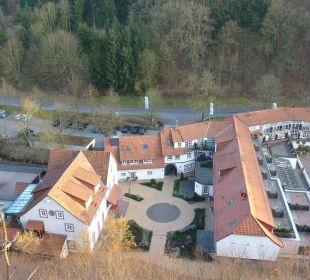 Blick von der Burg auf Hotelanlage Hardenberg BurgHotel