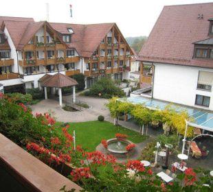 Schöner Blick vom Balkon Ringhotel Krone Schnetzenhausen