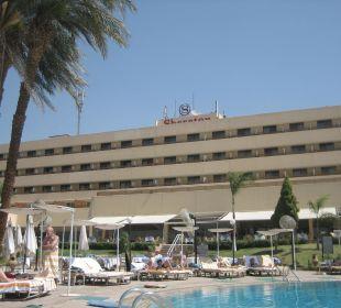 Blick vom Nil-Pool Achti Resort Luxor