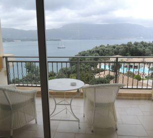 Blick über den Balkon Hotel Grecotel Eva Palace