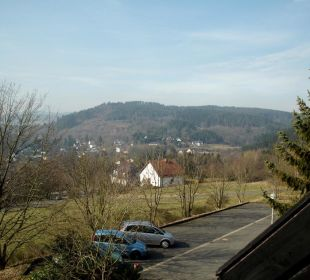 Blick vom Balkon nach rechts Landhaus Müllenborn