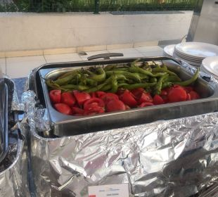 Leckere, gegrillte Paprika und Tomaten Hotel Side Sun