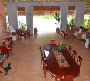Restaurant / Ansicht von der Galerie Boutique Hotel Quinta Chanabnal
