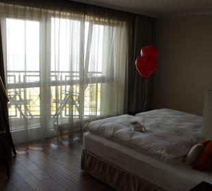 Unsere Hochzeits-Suite mit Blick auf die Seebrücke Strandhotel Ostseeblick