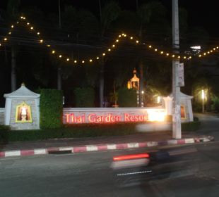 Hoteleinfahrt Thai Garden Resort