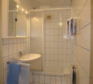 Dusche/WC Appartement Graslitzen Gästehaus Seewinkel