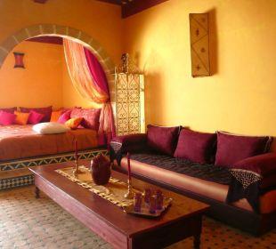 Séjour du logement du deuxième étage Appartement Charme Essaouira