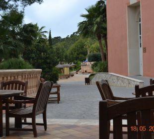 Blick von der Bar zum Pool Hotel Don Antonio