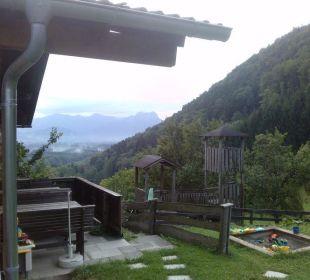 Ausblick von der Terrasse Oberulpointhof