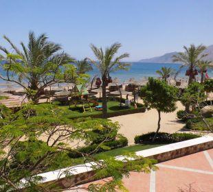 Aussicht vom Balkon zum Strandbereich Jaz Dahabeya