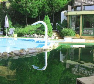 Teilansicht Schwimmbad, Whirlpool, Schwimmteich Gartenhotel THERESIA