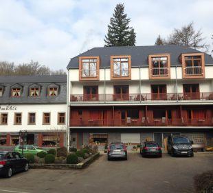 Hotel von der Straße aus Hotel Heidsmühle