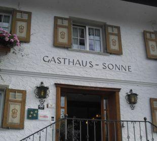 Eingang  die Sonnigen Hotel und Restaurant