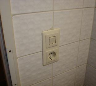 Defekter Lichtschalter Forsthaus Graseck (Vorgänger-Hotel – existiert nicht mehr)