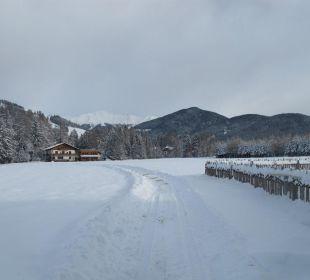 Toblach im Schnee Hotel Hubertushof