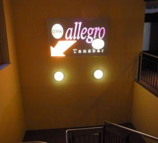Zugang zur Tanzbar HKK Hotel Wernigerode