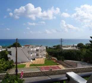 Blick vom Balkon Hotel Dimitra