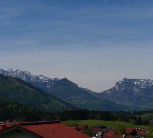 Sicht von der Terrasse Ferienwohnungen Neumaier