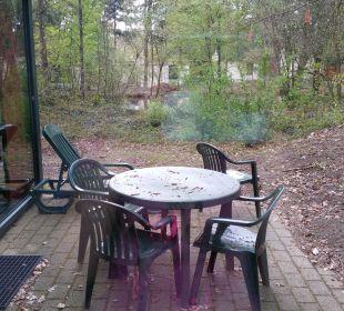 Terrasse Premium Bungalow Center Parcs Het Heijderbos