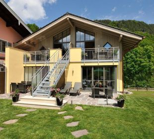 Hier befinden sich die 4 modernen Ferienwohnungen Apartments Ferienparadies Alpenglühn