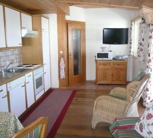 Wohnzimmer/ Küchenzeile/ TV Haus Elisabeth
