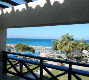 Ausblick von unserem Balkon Hotel Mimosa Beach