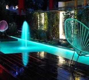 Garten bei Nacht Nala individuellhotel